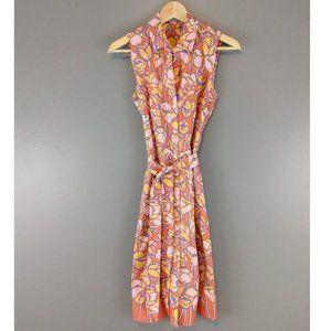j.mclaughlin floral tulip dress aline button up